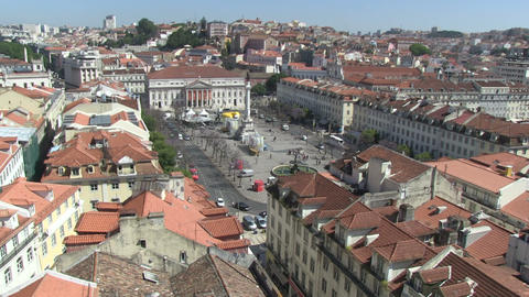 Rossio Square Stock Video Footage