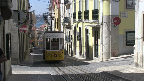 Tram in Lisbon Stock Video Footage