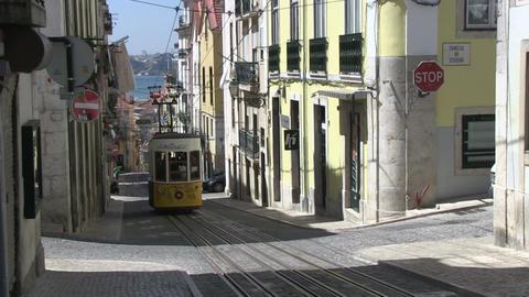 Tram in Lisbon Footage