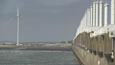 Storm surge barrier Footage
