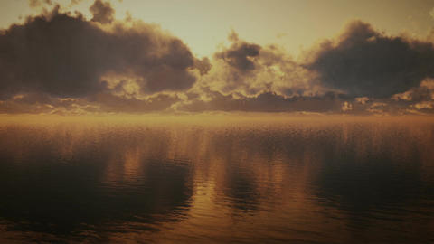 (1296) Ocean Storm Timelapse Clouds Dreamscape Tra Stock Video Footage