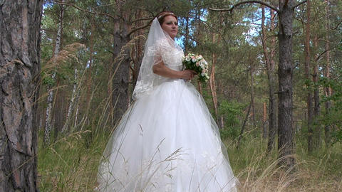 Bride stock footage