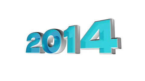 2014 new year's day, 3d loop animation Stock Video Footage