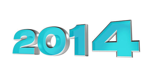 2014 new year's day, 3d loop animation Animation