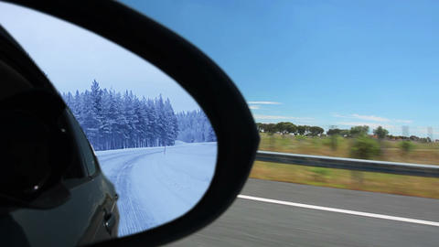 Summer and winter. Reflection Stock Video Footage