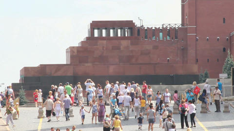 Lenin Mausoleum at Red Square Footage