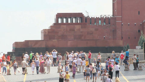 Lenin Mausoleum at Red Square Stock Video Footage