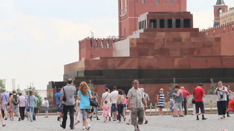 Lenin Mausoleum at Red Square Live Action