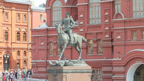 Marshal Zhukov Monument Footage