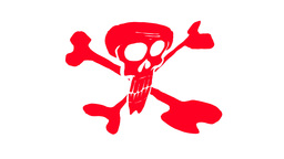 PIRATE FLAG Stock Video Footage