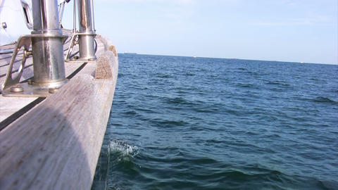 Yacht in the sea Stock Video Footage