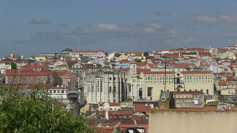 Lisbon From Alfama Stock Video Footage