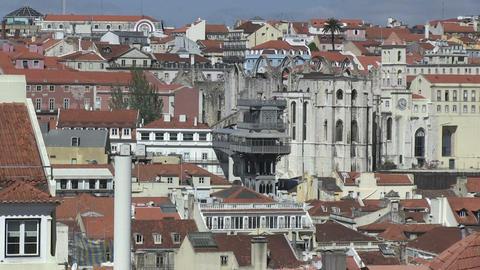Santa Justa elevator, Lisbon Stock Video Footage