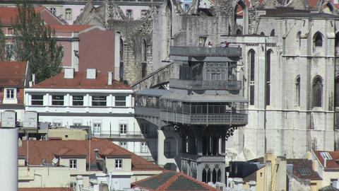 Santa Justa elevator, Lisbon Stock Video Footage