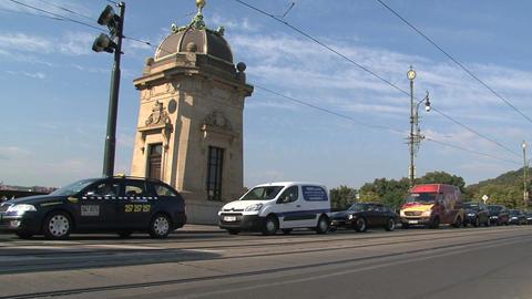 Tram near Legion Bridge Footage