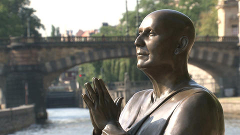 Close-up Of The Statue Of Harmony stock footage