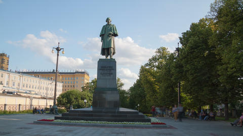 Writer Gogol Monument hyperlapse 4K Footage