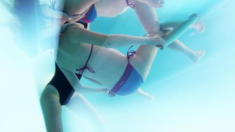 Water Healing Pregnancy Watsu therapy pregnant mot Stock Video Footage