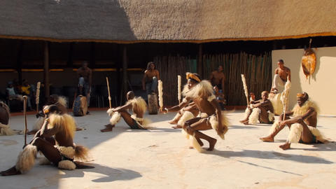 Folk dances of Botswana and South Africa Stock Video Footage