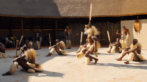 Folk dances of Botswana and South Africa Footage