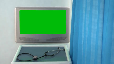 blank medical screen closeup Stock Video Footage
