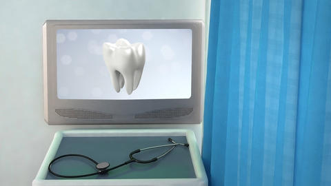 health tooth flare medical screen closeup Stock Video Footage