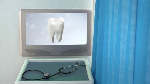 health tooth flare medical screen closeup Animation