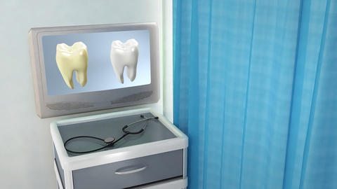 tooth compare medical screen Stock Video Footage