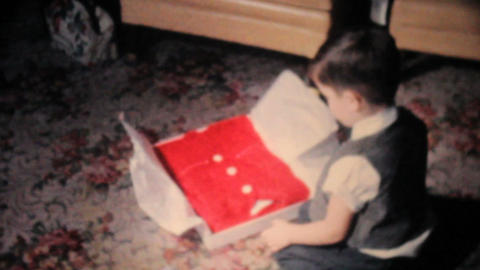 Boy Gets Red Sweater For Christmas 1962 Vintage Footage