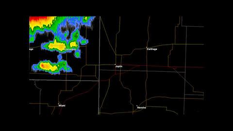 2011 Joplin, Missouri Tornado Doppler Radar Stock Video Footage