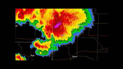 2011 Joplin, Missouri Tornado Doppler Radar Animation
