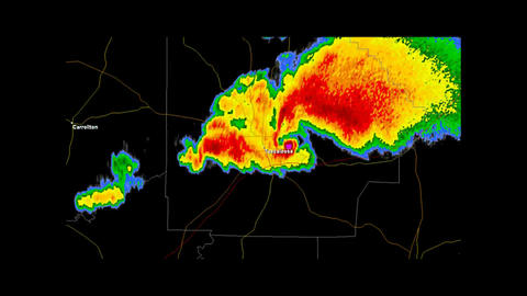 2013 Moore, Oklahoma Tornado Doppler Radar Animation