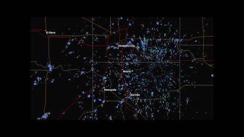 2013 Moore, Oklahoma Tornado Doppler Radar Stock Video Footage