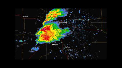 2013 Moore, Oklahoma Tornado Doppler Radar Stock Video Footage