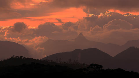 Adam peak at sunset Footage