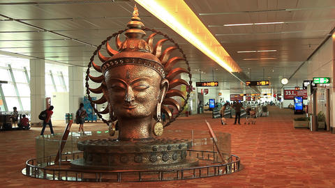 Airport Delhi Time Lapse Stock Video Footage