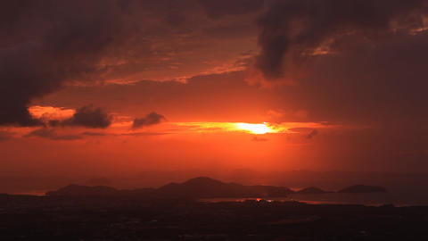 Sunrise, Phuket, Thailand stock footage