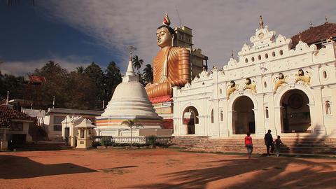 Buddhist temple in Dikwella Stock Video Footage