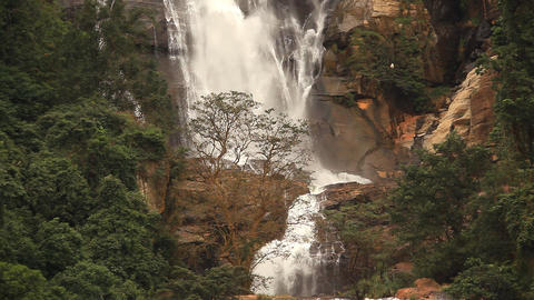 Waterfall in Nuwara Elia Stock Video Footage
