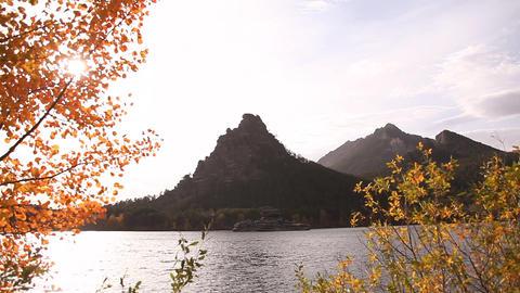 Autumn landscape in Burabay Stock Video Footage