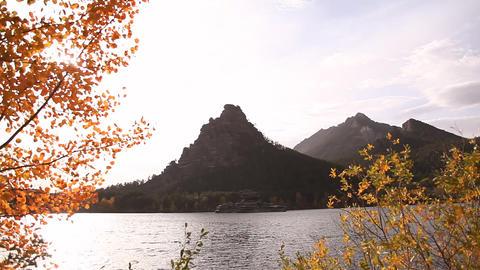 Autumn landscape in Burabay Footage