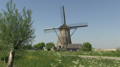 Dutch windmill Stock Video Footage