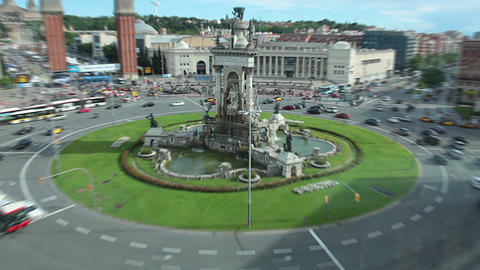 Fountain in Barcelona Stock Video Footage