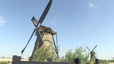 Windmills in Holland Footage