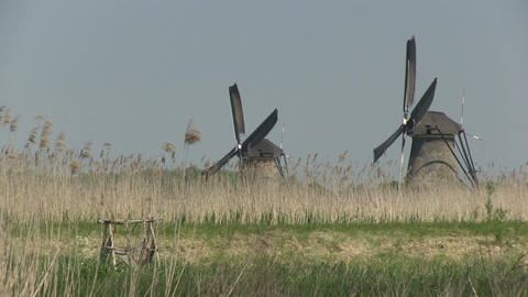 Dutch windmills Stock Video Footage