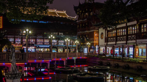 Closing time at Yuyuen Garden at night Stock Video Footage