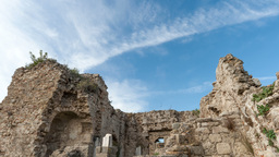 Ruins and sky Stock Video Footage