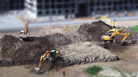 excavation Stock Video Footage