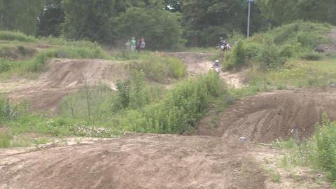 Motocross jump rider Stock Video Footage