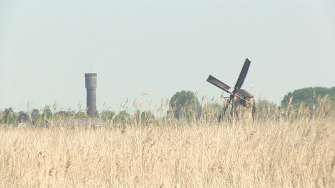 Dutch windmills Stock Video Footage